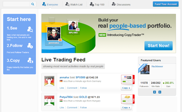 Openbook social trading feed